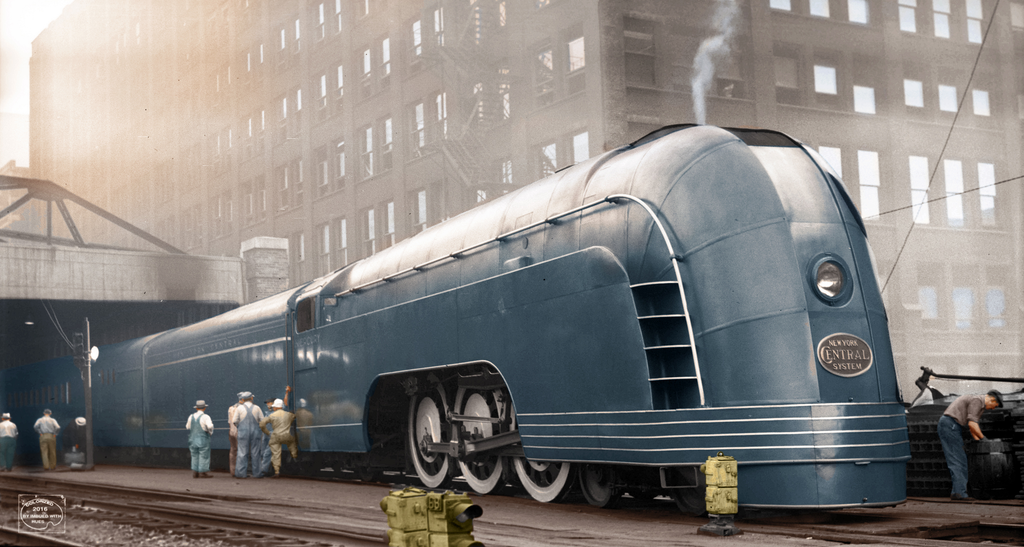 New York Central 'Mercury' in Chicago, 1936 - jaykirsch - http://bit.ly/2AGEYhu