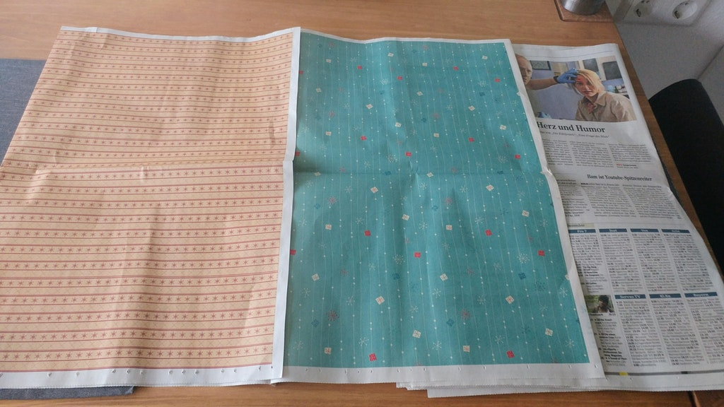 My newspaper came with 2 printed pattern pages to wrap presents - PlanetGG - http://bit.ly/2BkD5XL