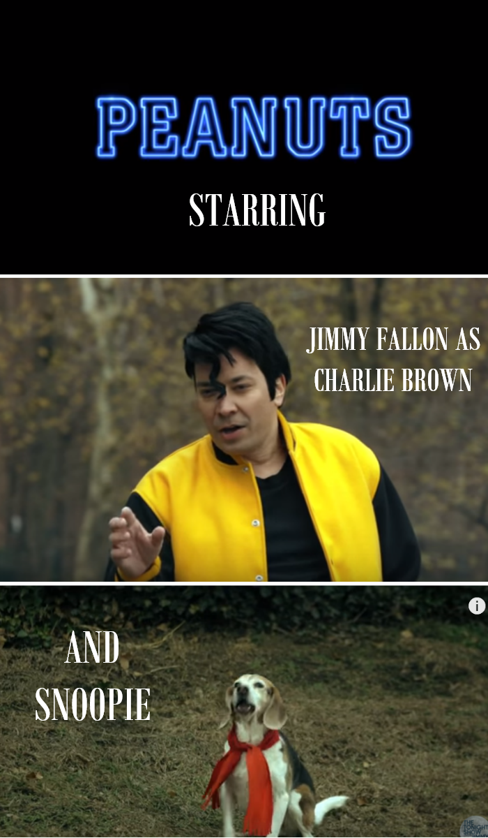 Video: Jimmy Fallon in Peanuts as Charlie Brown