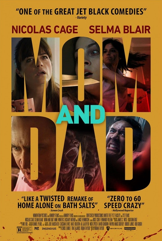 First Poster for Horror-Thriller 'Mom & Dad' - Starring Nicolas Cage & Selma Blair - BunyipPouch - http://bit.ly/2CT7dyp