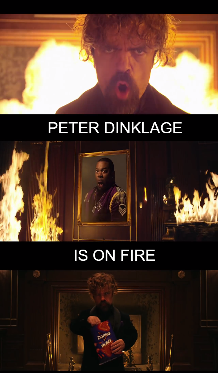 Video: Peter Dinklage's on Fire while Morgan Freeman's Chilling