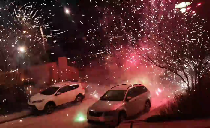 Video: Bright Fireworks light up the neighborhood