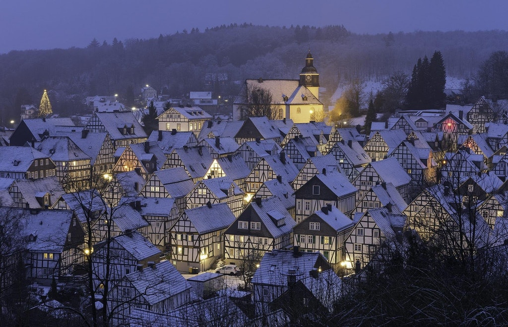 Half-timbered houses of Alter Flecken, Freudenberg - golden_an - bit.ly2EGAUjA