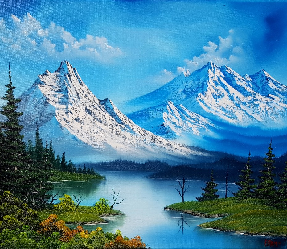 Mountains Galore, wet on wet Oil - tutusdaddy23 - bit.ly2oj0YJY