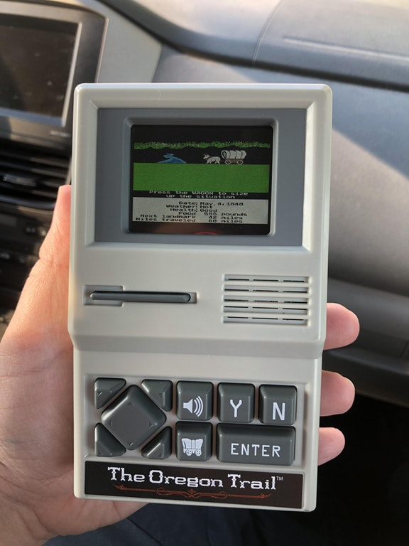 Best impulse buy I've ever made! Hand held Oregon Trail! - Jacksonteague - bit.ly2FzYpdR