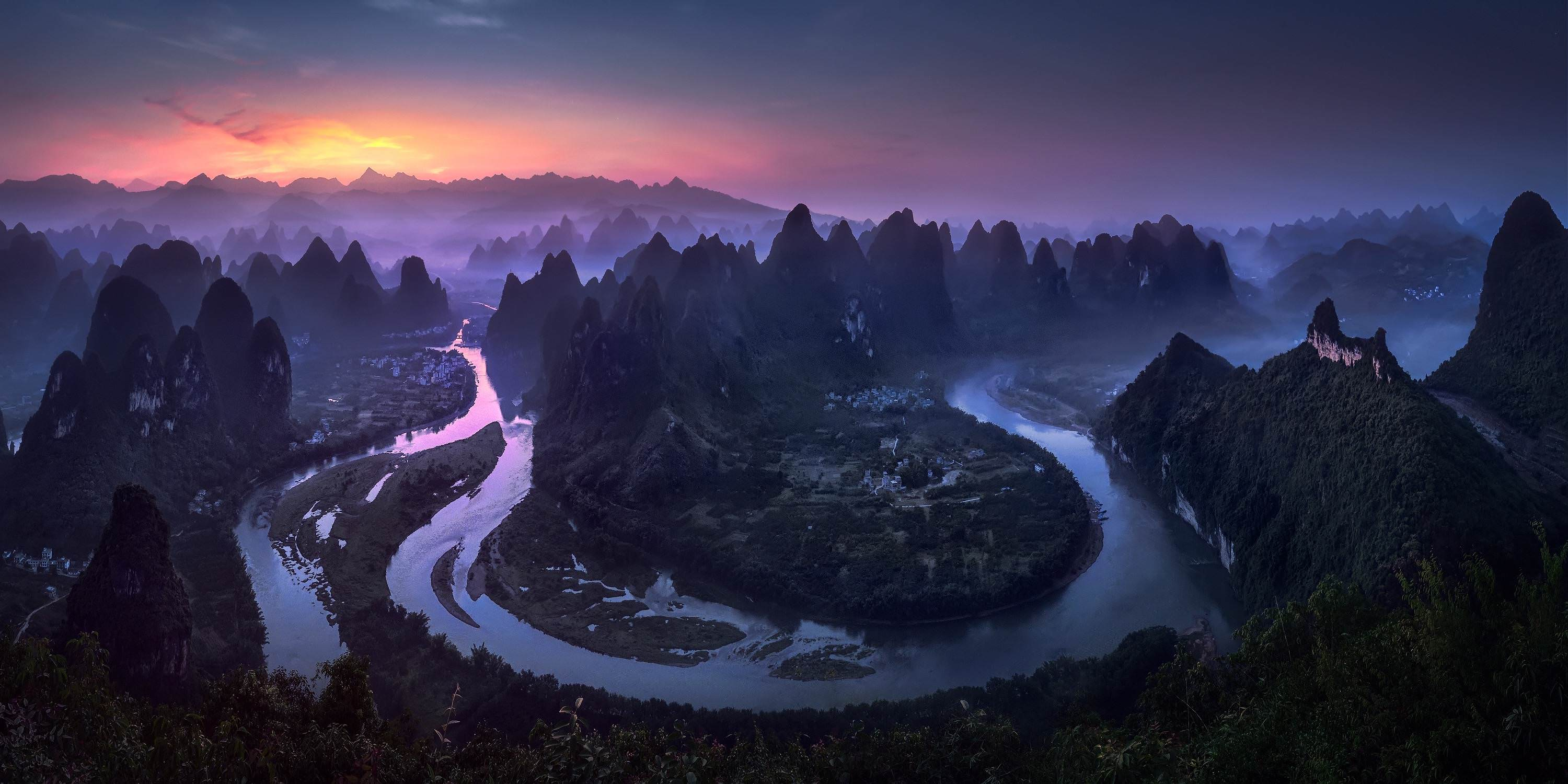 Sunrise in China's Guangxi Province along the Li River - spicedpumpkins - bit.ly2D418dC