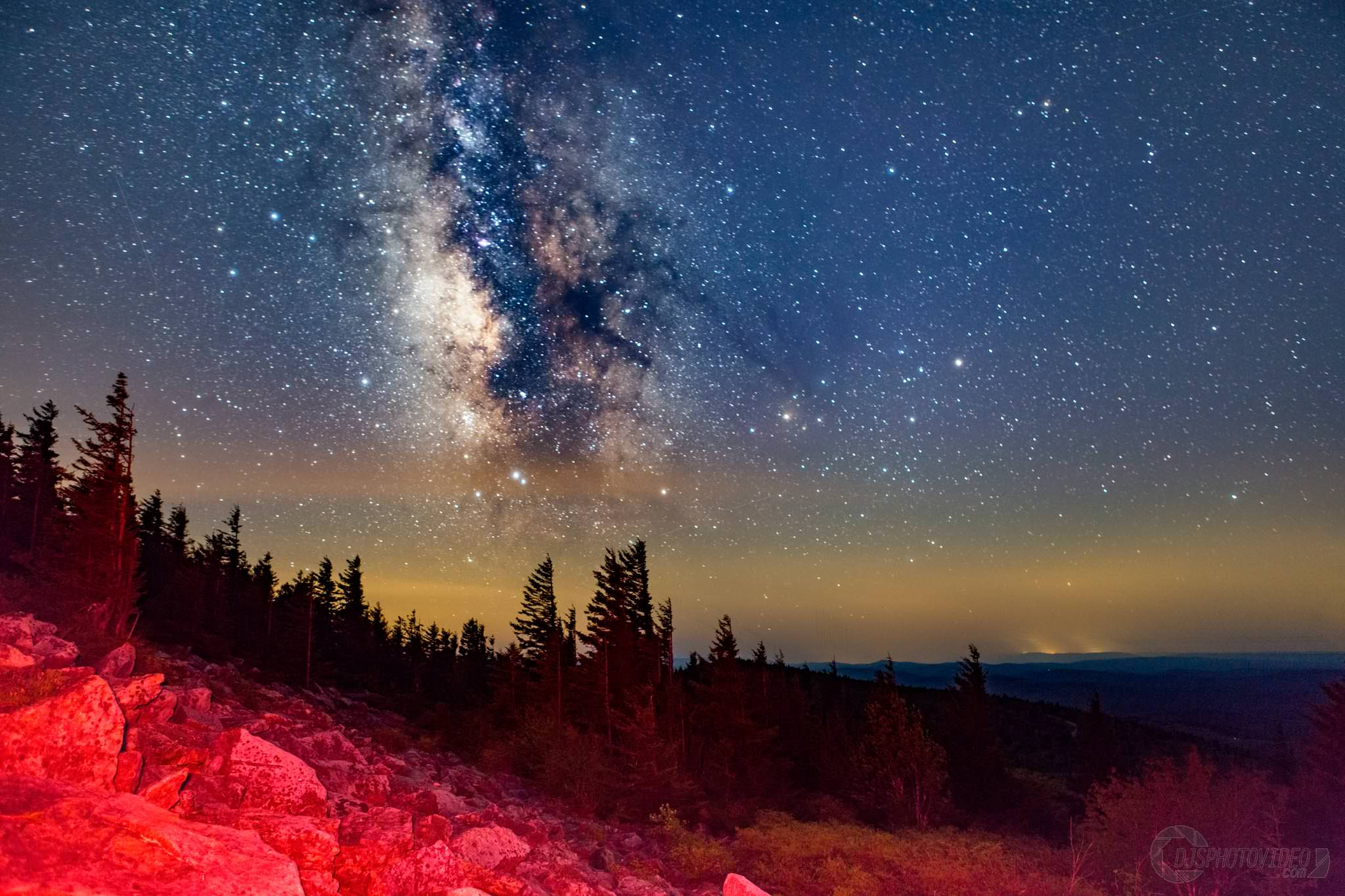 The Milky Way setting during blue hour over the Allegheny Mountains - DanielJStein - bit.ly2DEHEwj