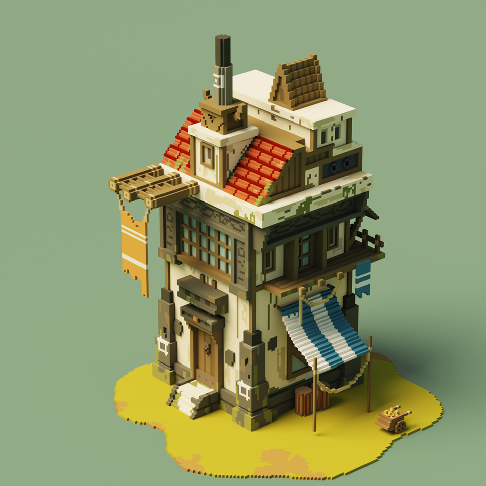 Made another house, digital - knos__ - bit.ly2KHOcyd