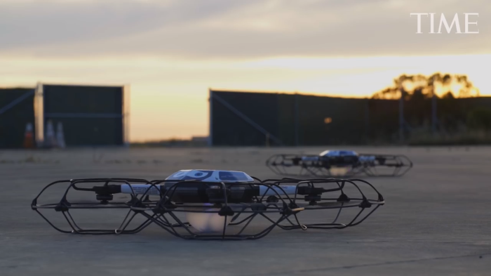 Video: Drones take over Time Cover