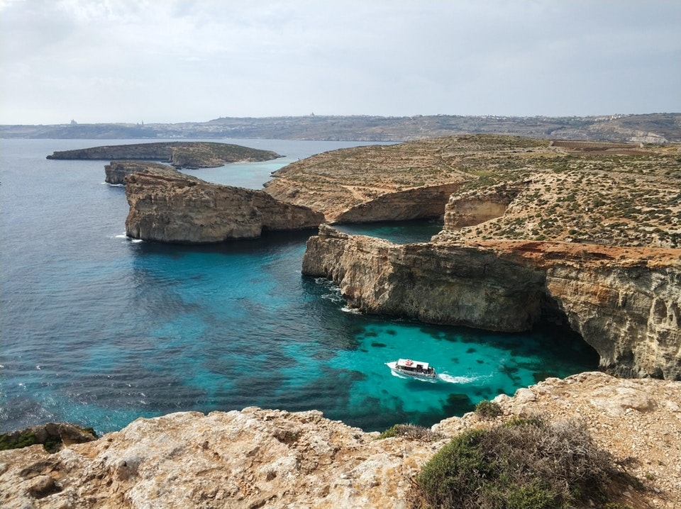 A view from the cliffs of Comino, Malta - eric_c_jackson - bit.ly2KJE5JM