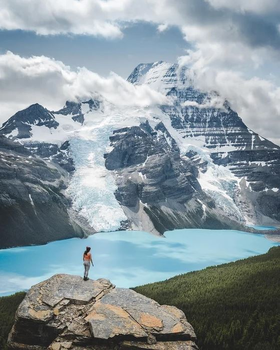 Mount Robson in British Columbia, Canada