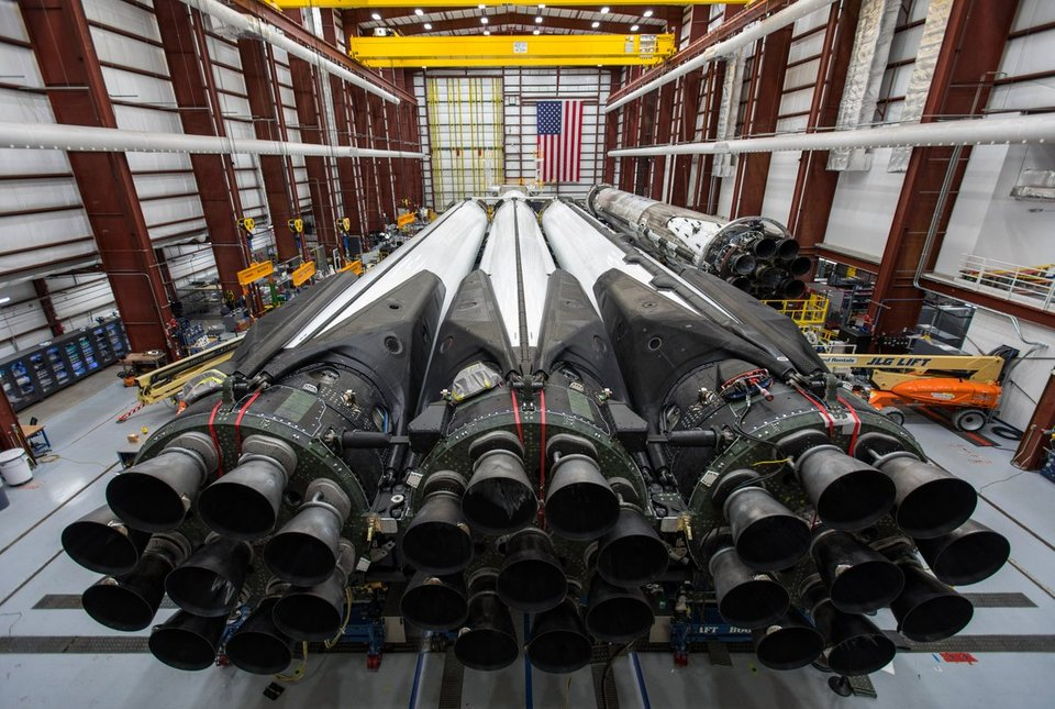 Falcon Heavy's 27 Merlin engines generate more than 5 million pounds of thrust at liftoff, making it the world's most powerful operational rocket by a factor of two