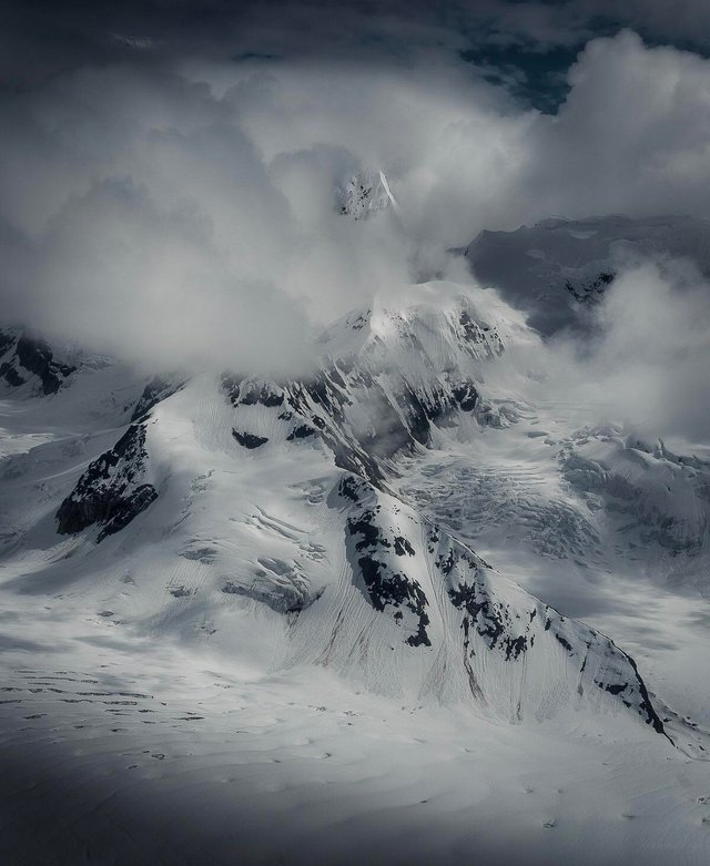 A shot from a photo flight in Denali National Park, Alaska