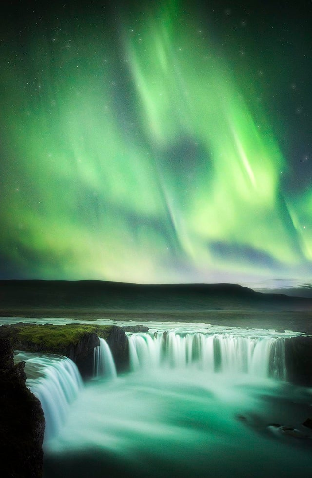 Waterfall of the Gods. Goðafoss, Iceland