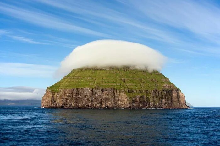 Island with its own cloud