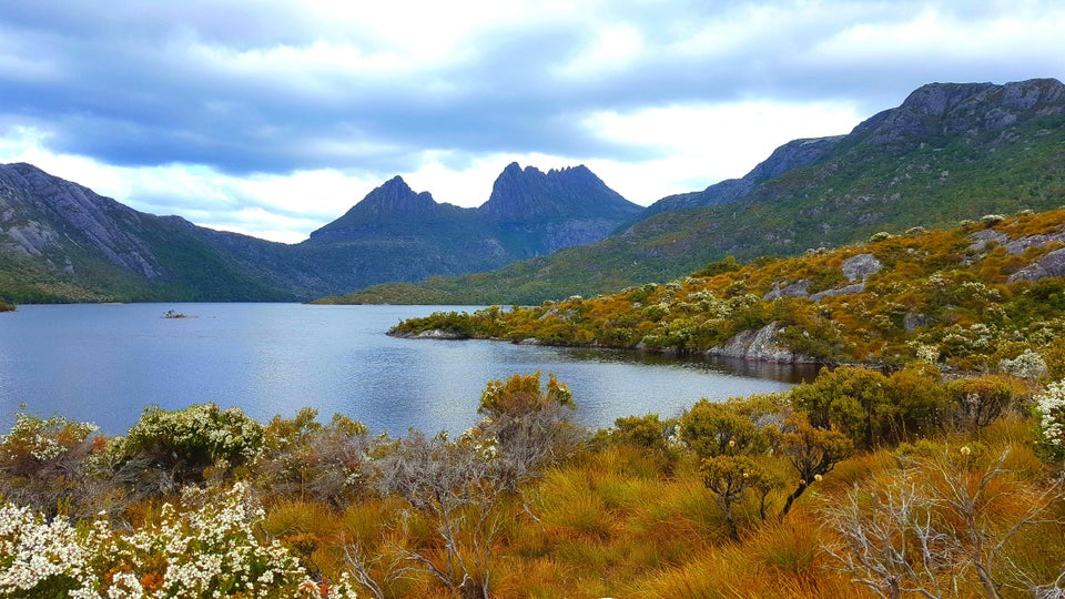 The view from Dove Lake at Cradle Mountain, Tasmania