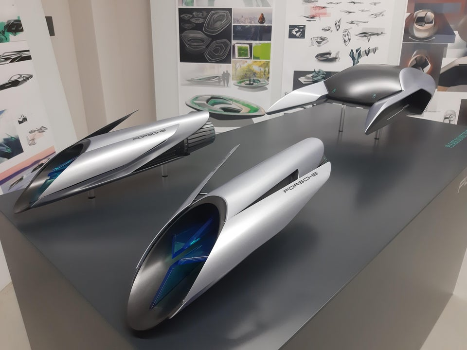 This Porsche Podracer model students in a university made