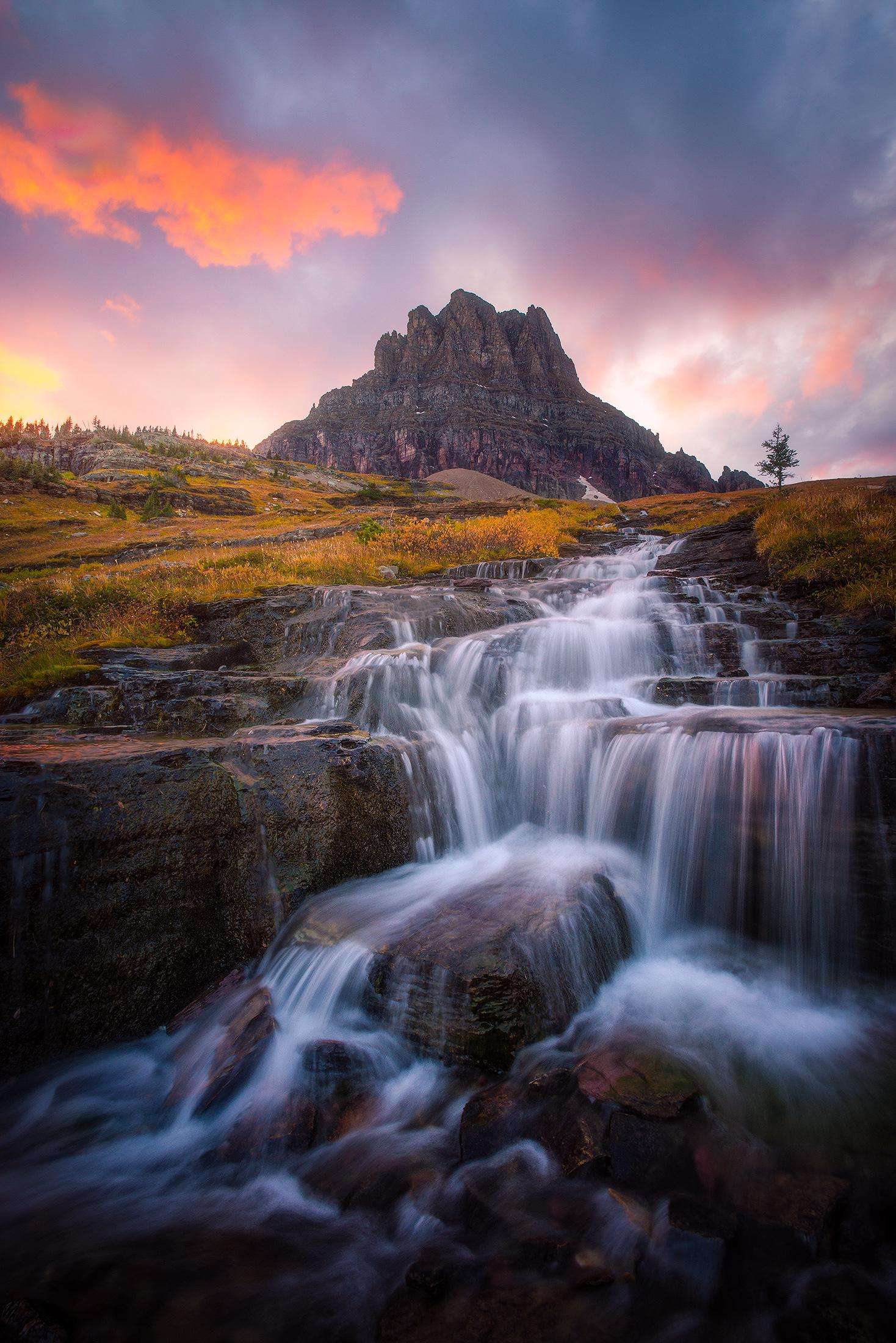 Clements Mountain in Glacier National Park, Montana USA