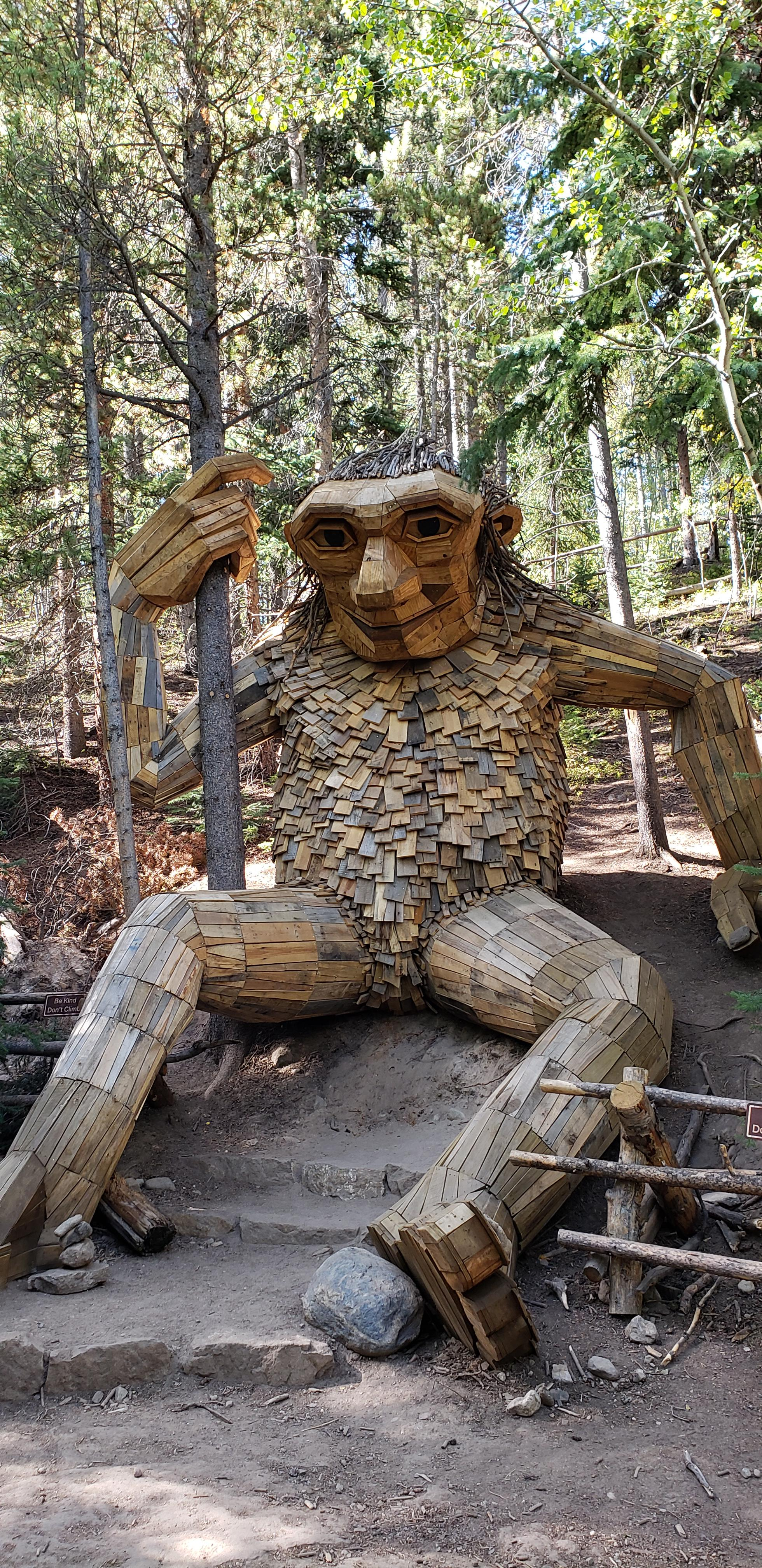This troll I came across in the woods