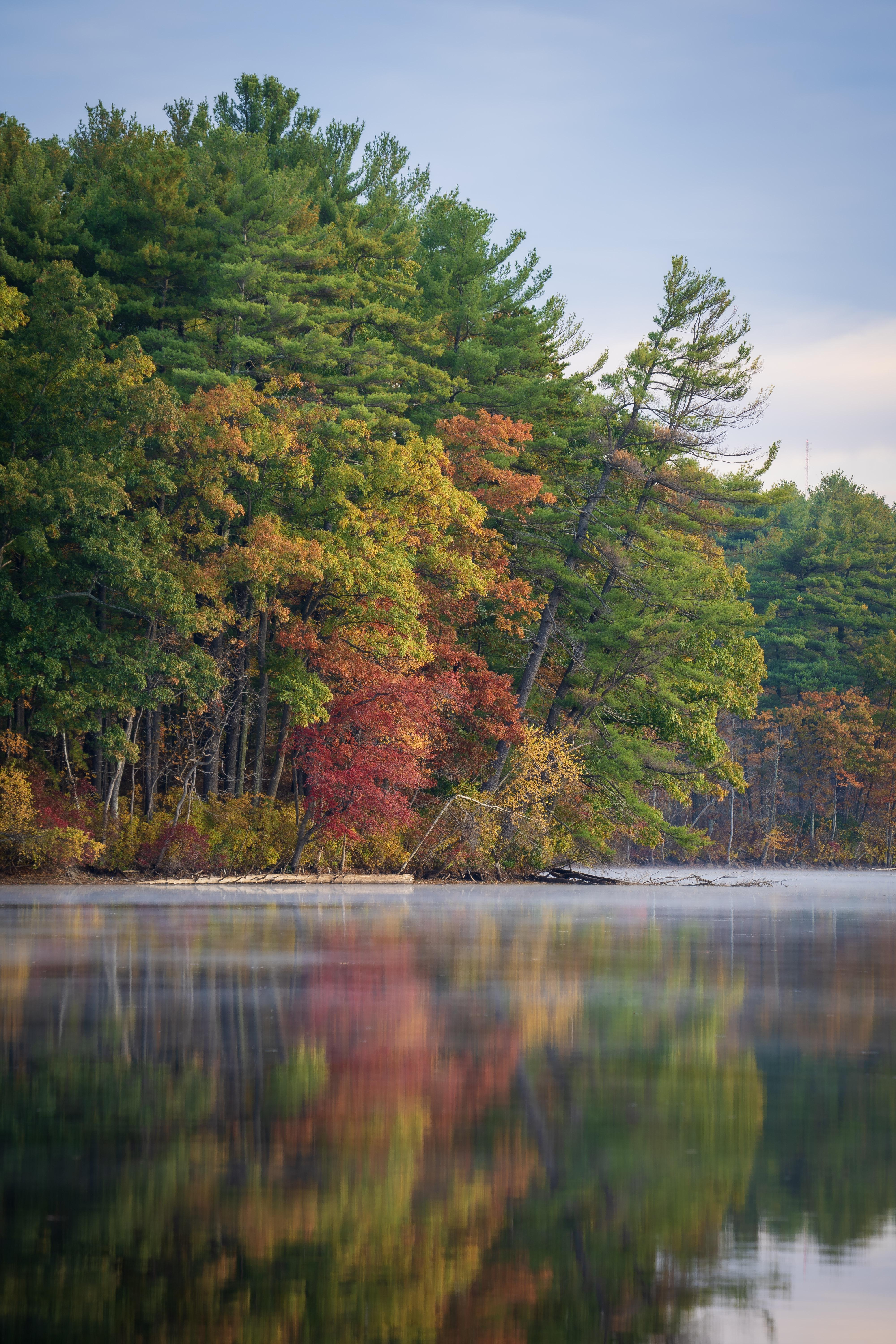 Autumn Colors at Haggett's Pond in Massachusetts