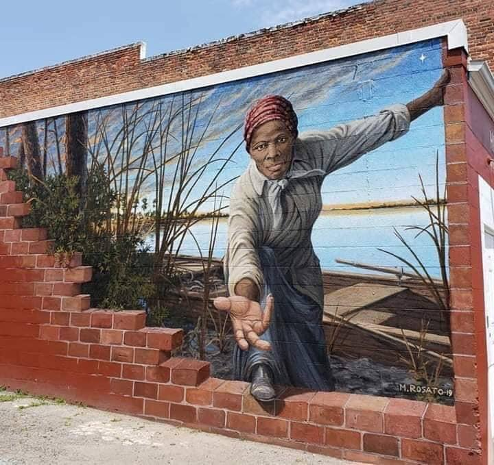 Harriet Tubman mural in Maryland