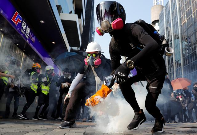 Protester in Hong Kong looking straight out of a sci fi movie