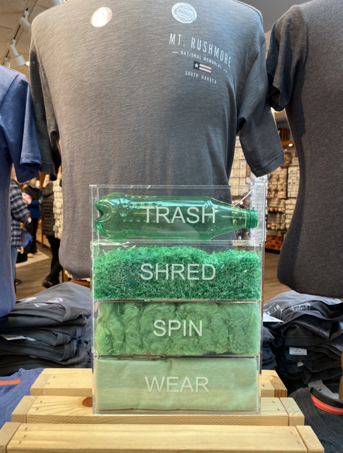 Shirts made from plastic bottles