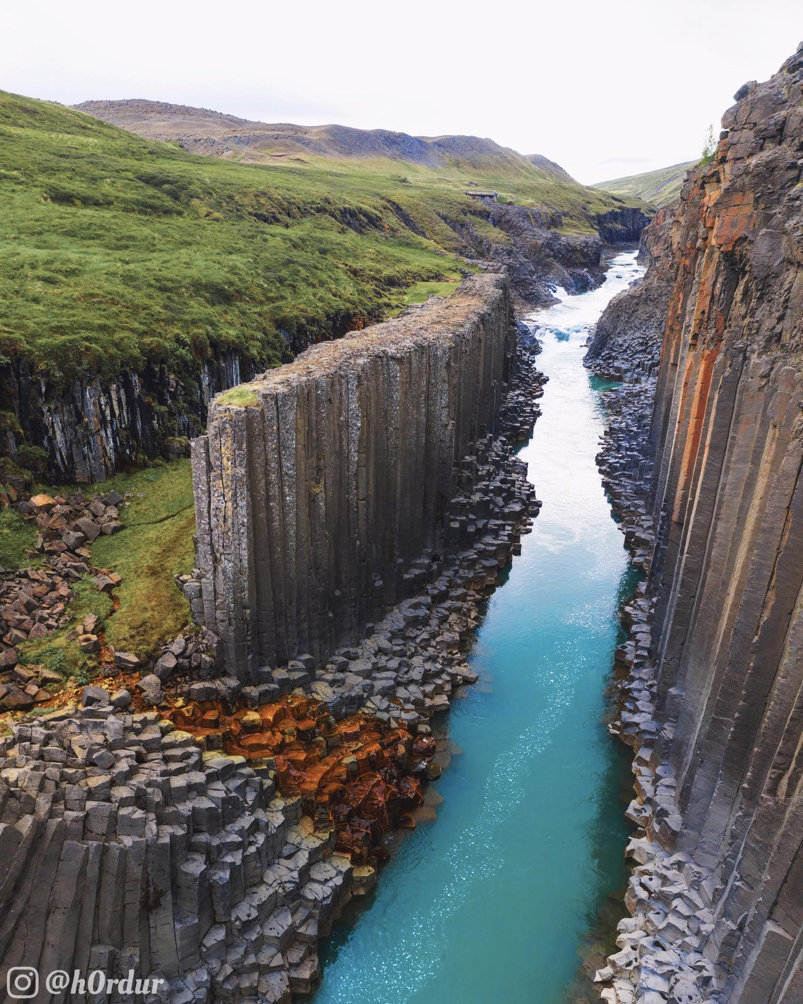 Incredible Basalt Canyon in Iceland