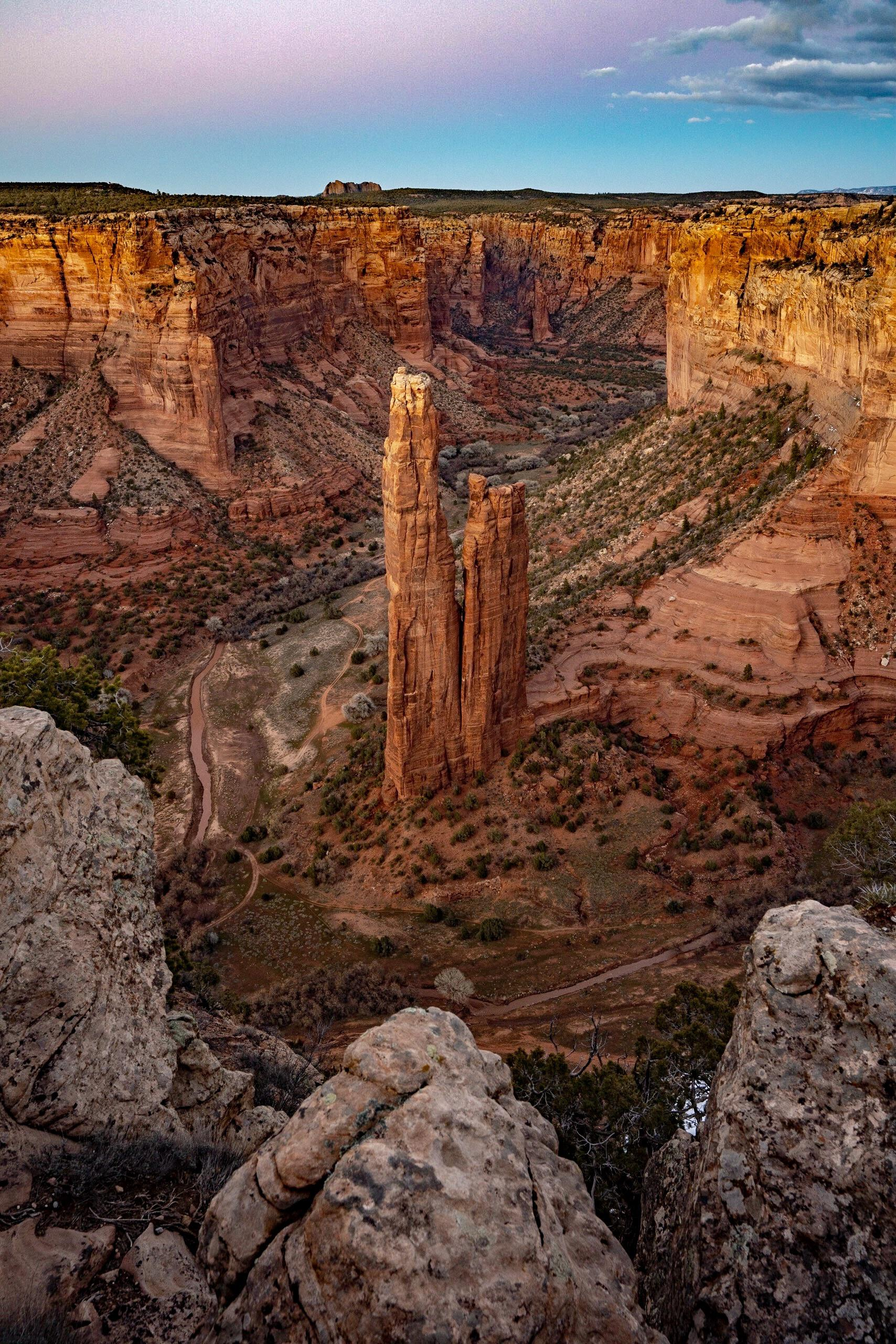 A little bit after sunset at Canyon de Chelly National Monument