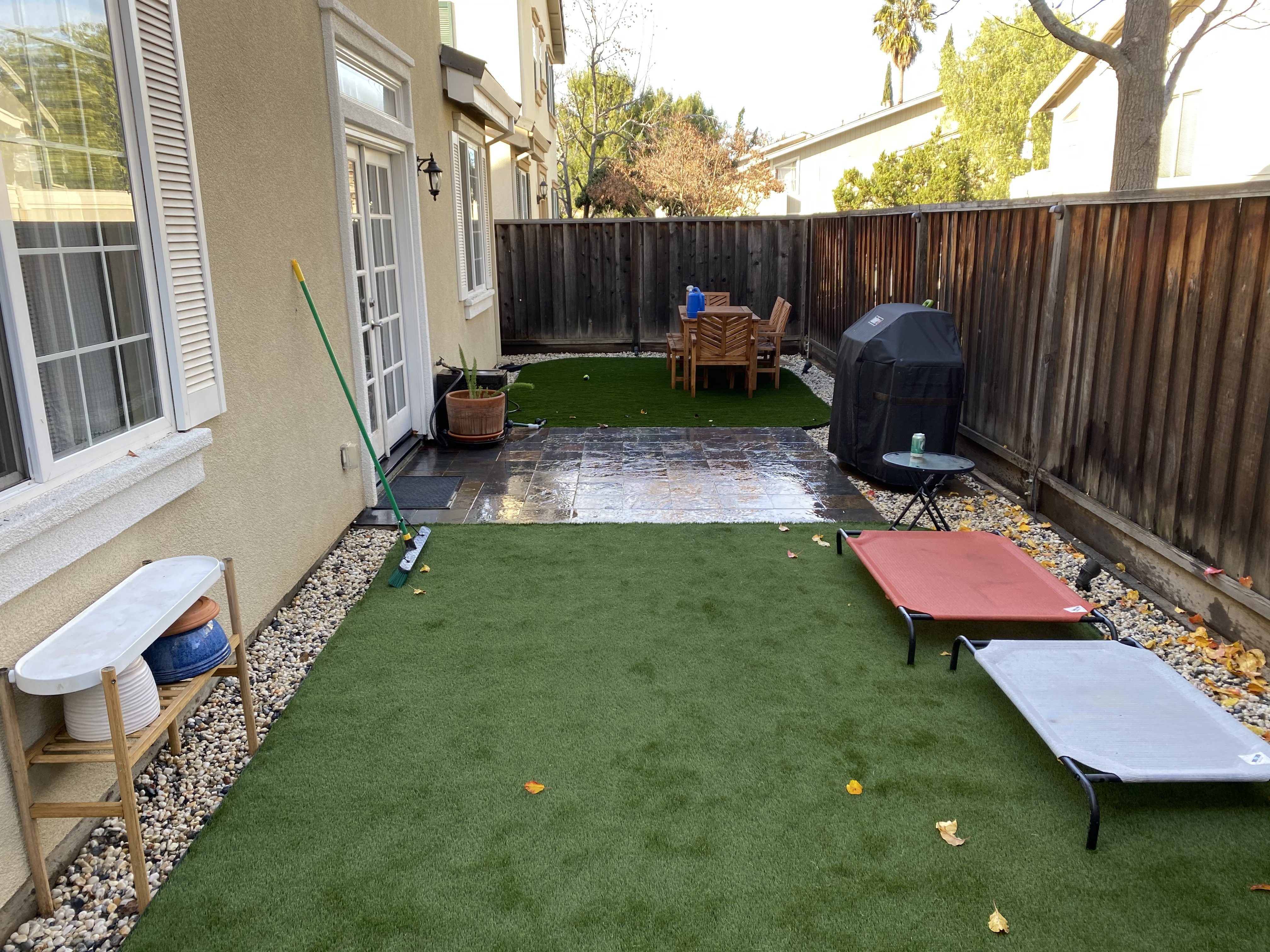 Renovated my small back yard to make it more dog and kid friendly
