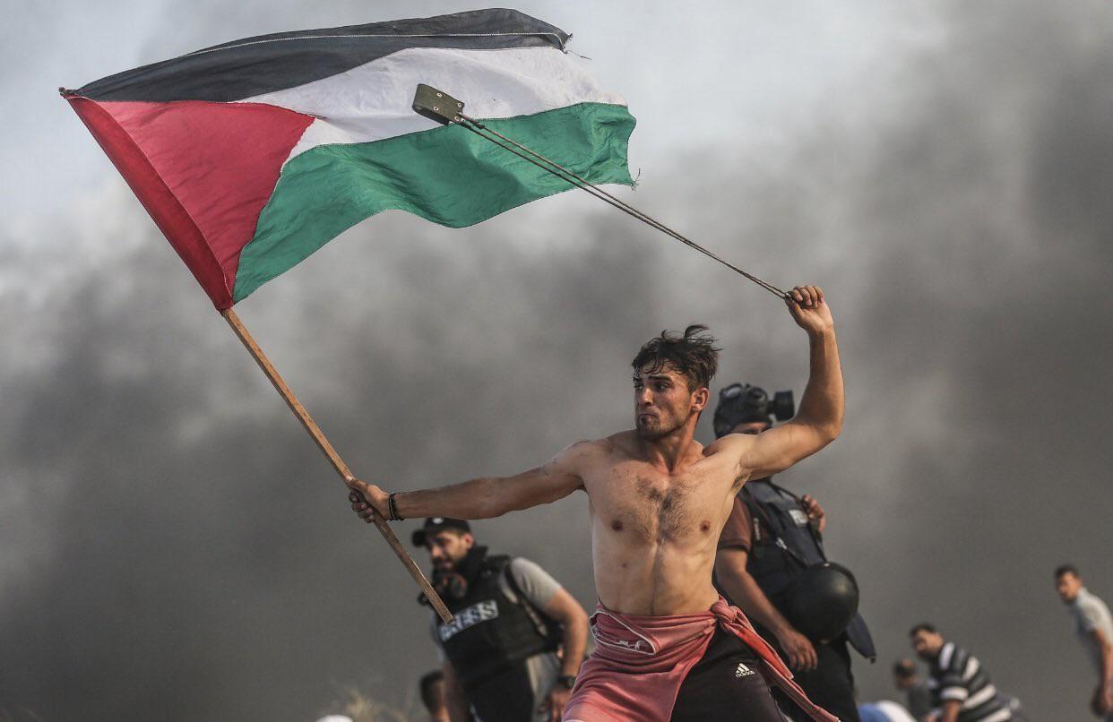 This picture out of Palestine looks like something from a history book