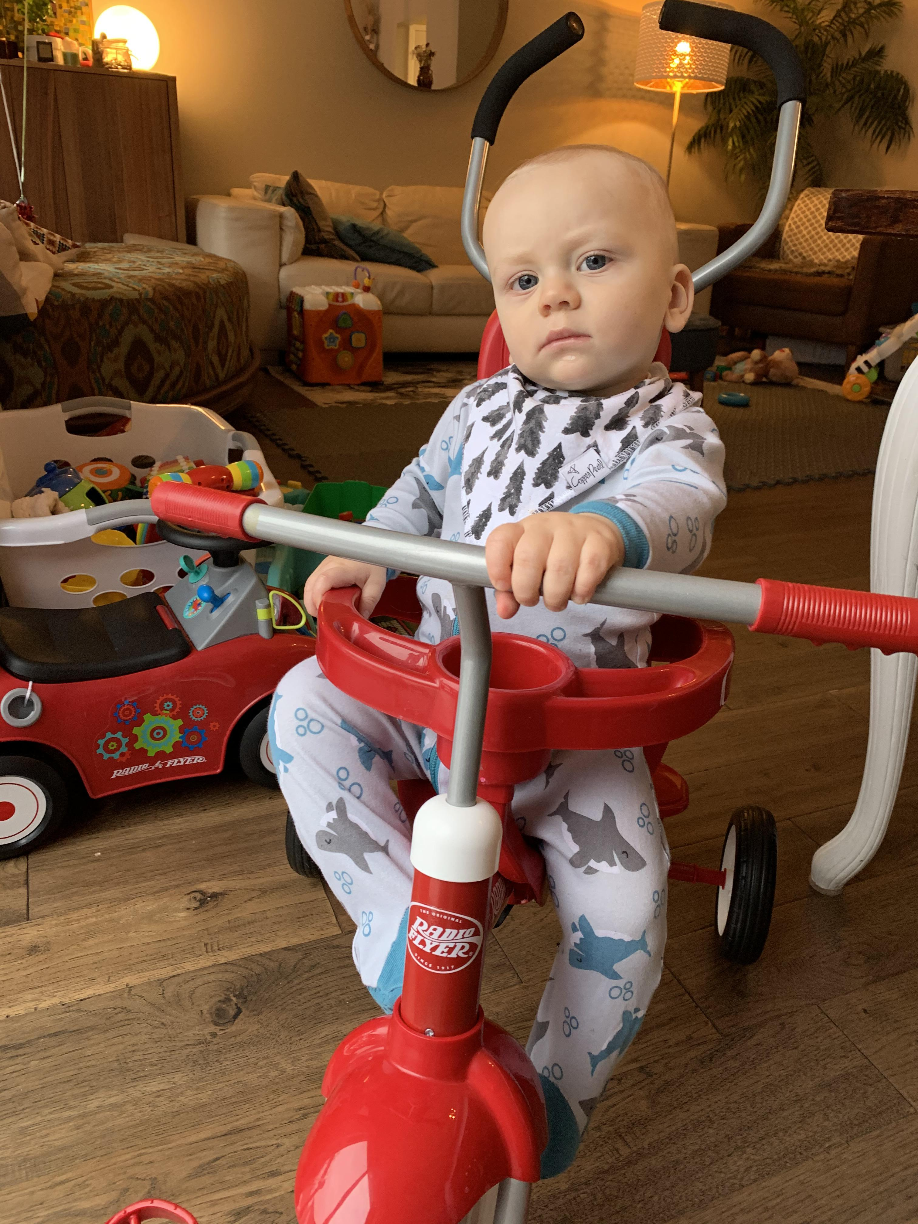 Managed to take a picture of my 1 year old looking more badass on his trike than I ever have